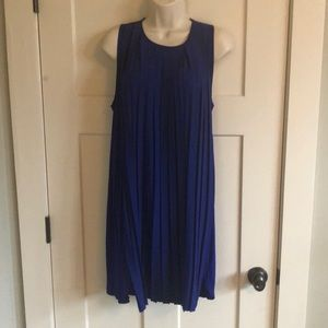 French Connection royal blue pleated swing dress 8
